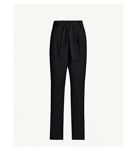 MAJE Paris slim-fit high-rise twill trousers (Black