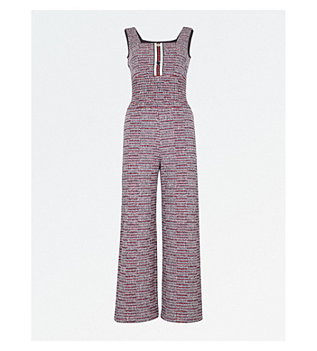 MAJE Flared tweed jumpsuit (Jacquard