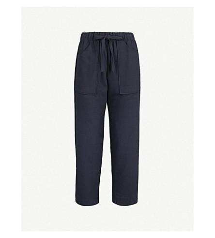MAJE Pavot high-rise woven trousers (Blue