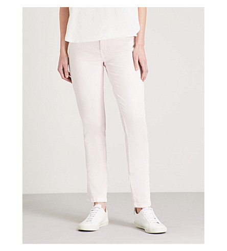 MAJE Pismar slim mid-rise jeans (Pink
