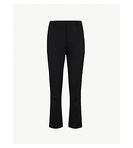 MAJE 广场芯九分款梭织裤子 (Black+210