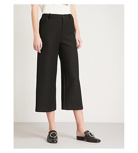 MAJE Polaris cotton-blend trousers (Black