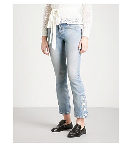 MAJE Popsem straight mid-rise jeans (Blue