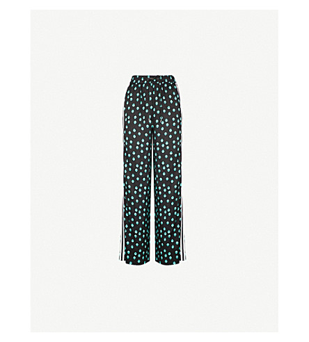 MAJE Praga straight satin trousers (Multi-coloured