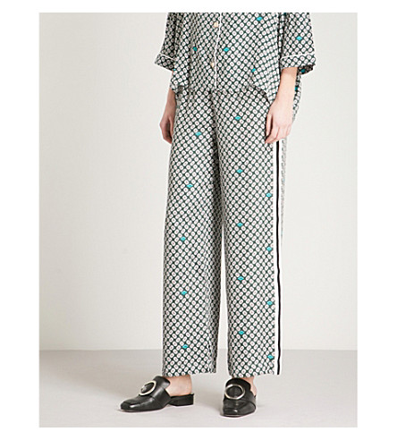 MAJE Pragui woven trousers (Multi-coloured