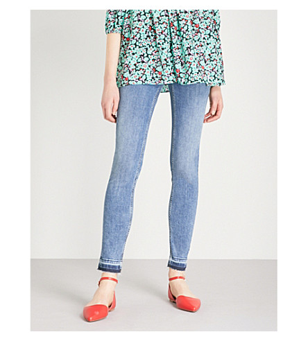 MAJE Probin released-hem skinny high-rise jeans (Denim