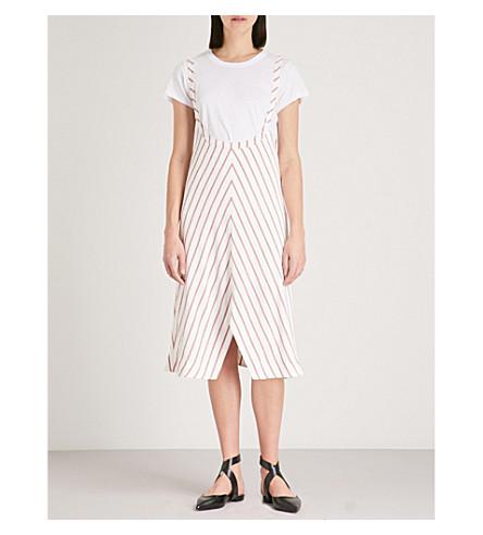 MAJE Stripe poppered strap skirt (Multi-coloured