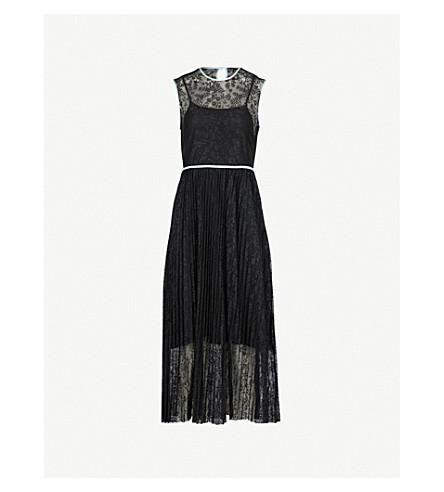 MAJE Rabila floral-lace dress (Black
