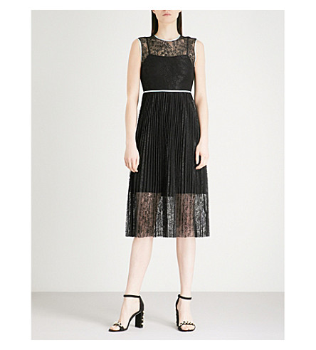 MAJE Rabila floral-lace dress (Black