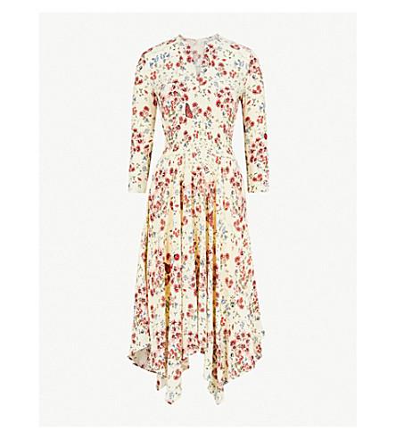 MAJE Rayine floral-print crepe dress (Printed