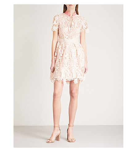 MAJE Regina lace dress (Pink