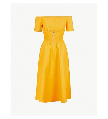 MAJE Relera stretch-cotton dress (Yellow