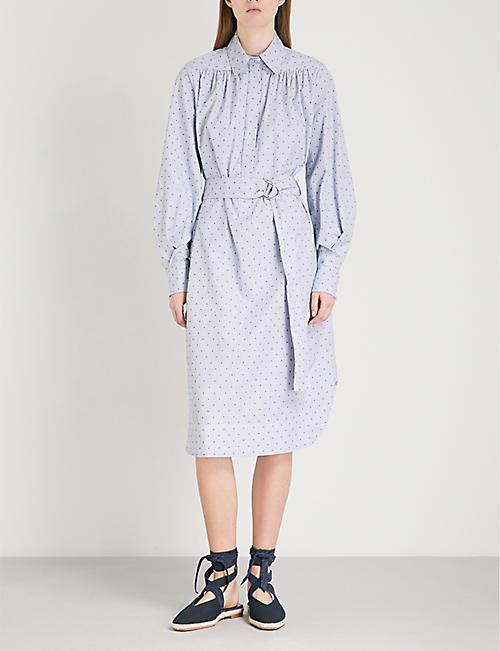 MAJE Relino striped cotton dress