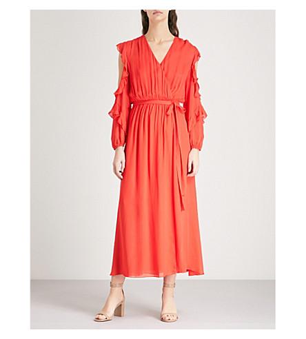 gasa volantes Remy vestido de MAJE con rojo q1tUX