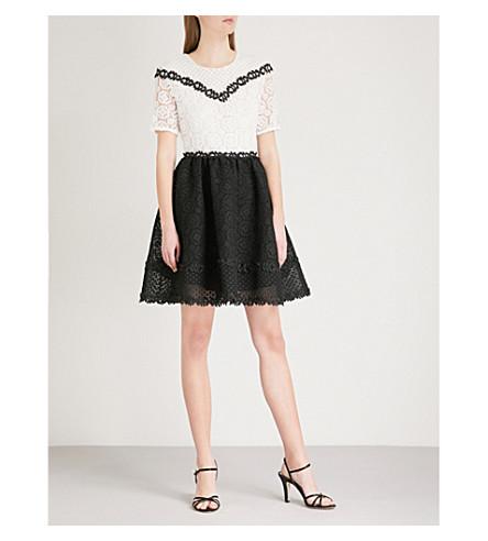 MAJE Renald guipure-lace dress (Multi-coloured