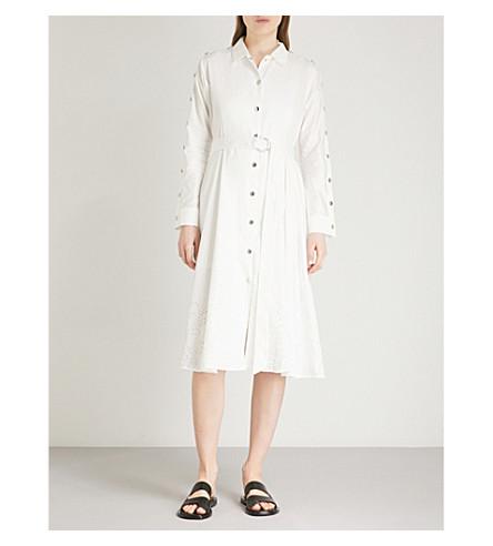 MAJE Trench detail cotton dress (White