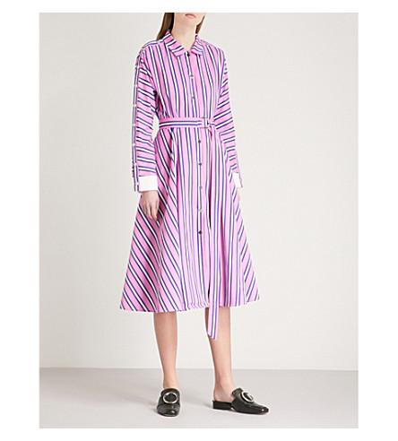 MAJE Renali belted striped cotton shirt dress (Multi-coloured