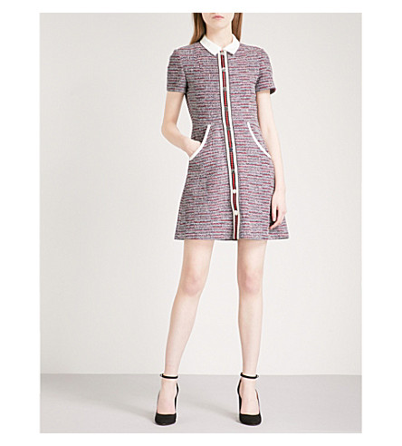 MAJE Natelle tweed mini dress (Jacquard
