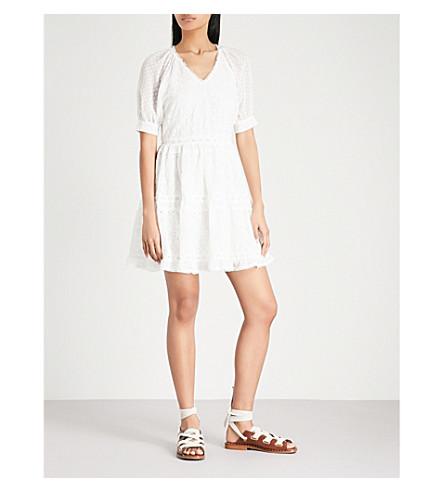 MAJE Revery broderie anglaise mini dress (Cream