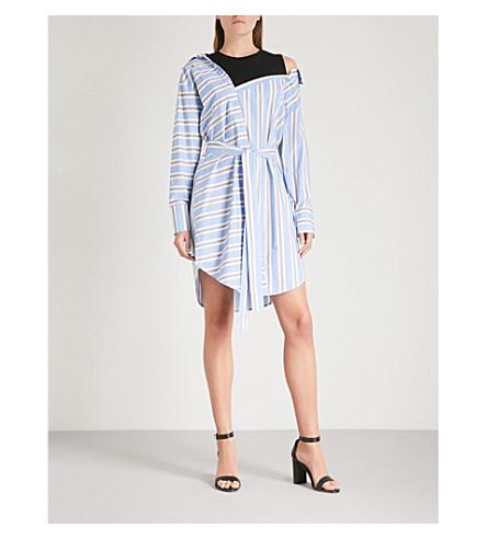 ... MAJE Riavi striped cotton shirt dress (Blue. PreviousNext
