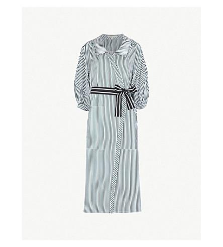 MAJE Rilucci striped cotton shirt dress (Multi-coloured