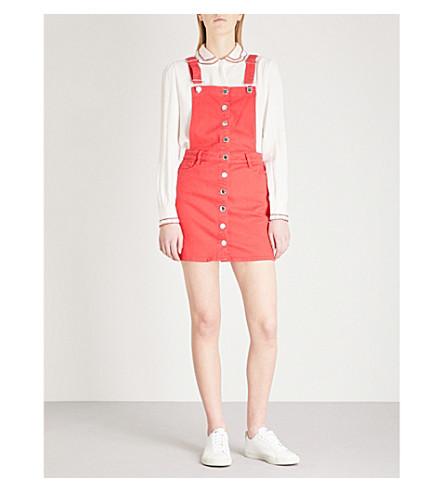 MAJE Denim dungaree dress (Red