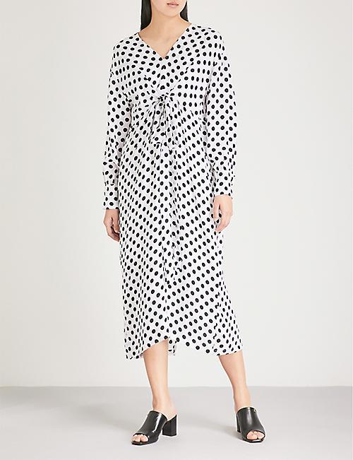 MAJE Ristal polka-dot print woven dress