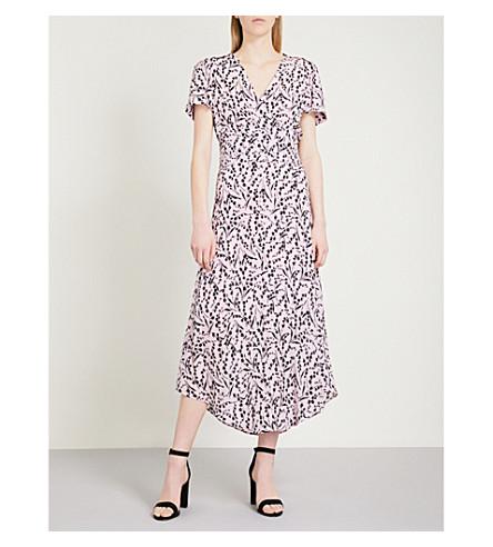 MAJE MAJE Floral coloured dress crepe print Floral Multi silk q5dPdxA7