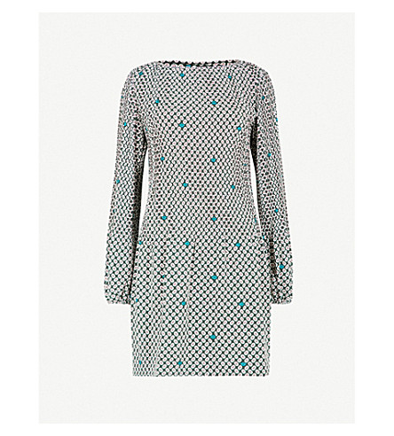 MAJE Rockina floral-pattern woven dress (Multi-coloured