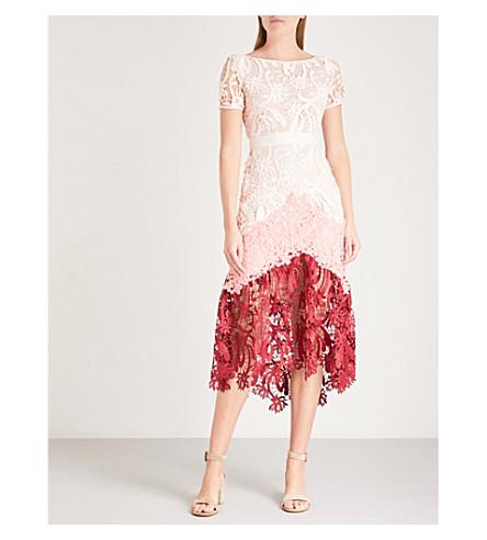 Romarin vestido MAJE multicolor bordado floral zd8wq