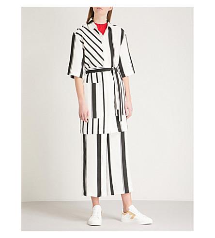 MAJE Ronson striped crepe shirt dress (Multi-coloured