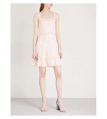 MAJE Rosalina lace mini dress (Pink