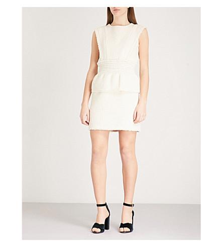 MAJE Rosay woven mini dress (Cream