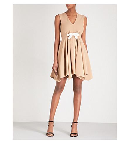 MAJE Bow-waist jersey dress (Camel