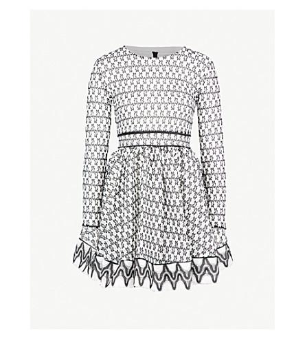 MAJE Royan embroidered-lace mini dress (Multi-coloured