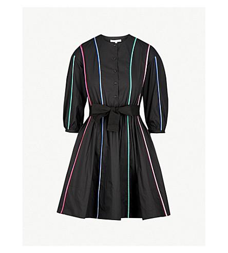 MAJE Piped detail skater dress (Black