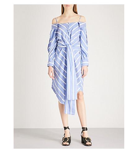 MAJE Stripe pattern woven shirt dress (Blue