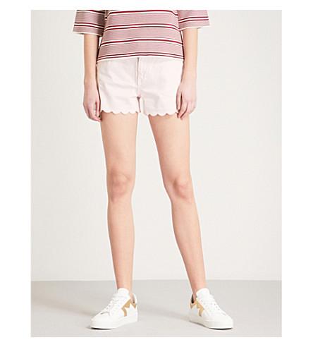 MAJE Shafto high-rise denim shorts (Pink
