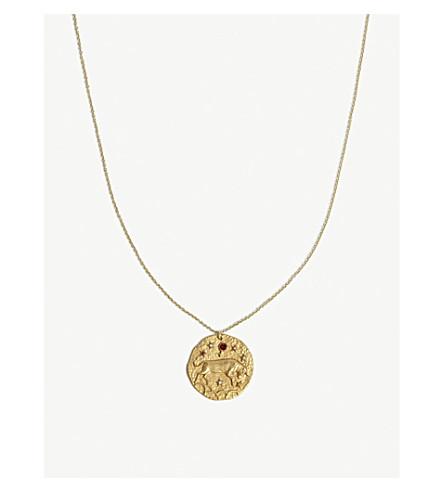 MAJE Taureau Taurus brass coin necklace (Gold