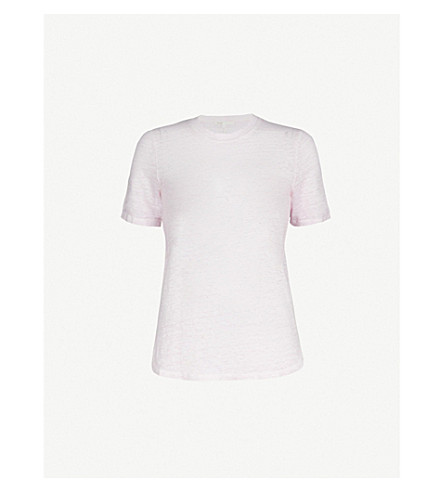 MAJE Marl-effect linen T-shirt (Purple