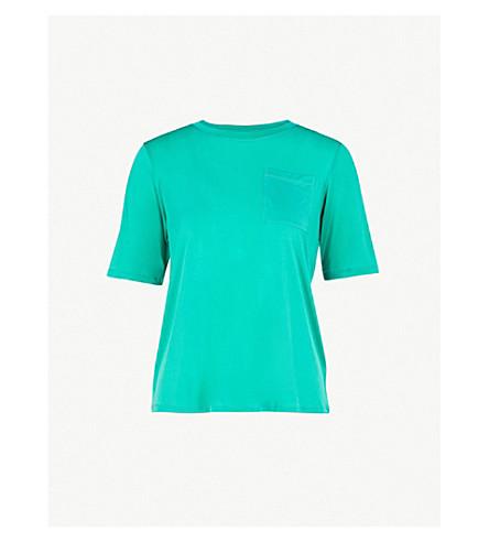 MAJE滋补针织 t恤衫 (绿色