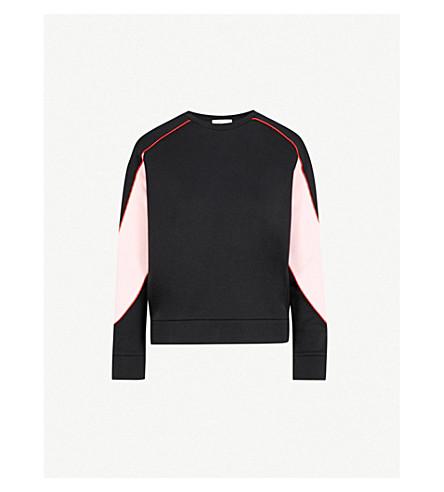 MAJE Tony colourblock jersey sweatshirt (Black