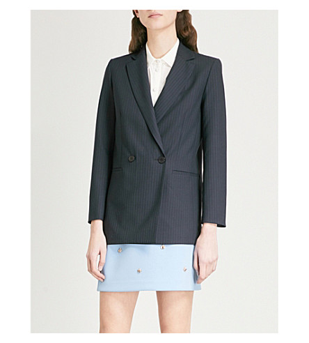 Valere pin-stripe wool-blend blazer