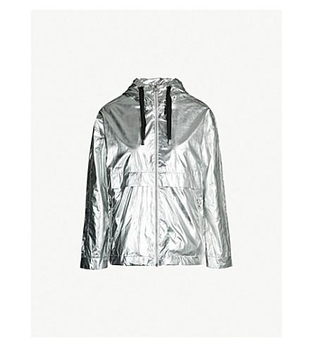 MAJE Metallic hooded shell jacket (Silver