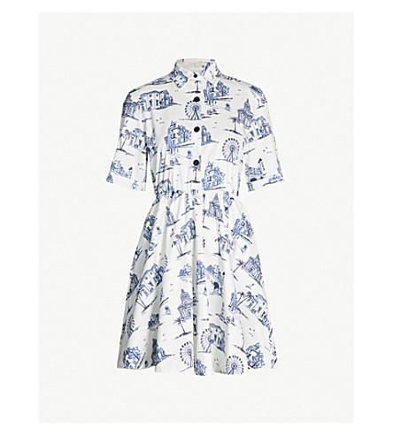 MAJE Rapomi stretch-cotton-twill dress (Ecru