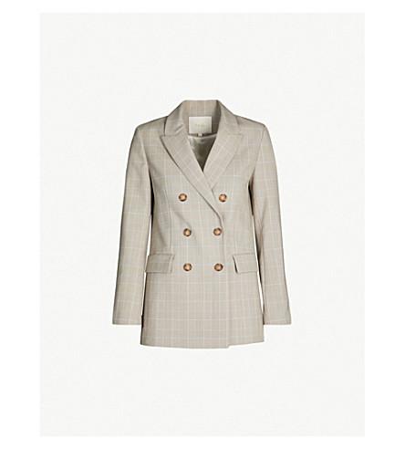 MAJE Vikam checked woven blazer (Carreaux