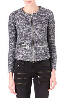 MAJE Dabonye zip-up cardigan