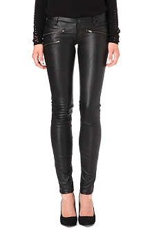 MAJE Leather trousers