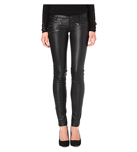 MAJE Leather trousers (Black