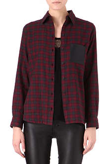 MAJE Danette checked shirt